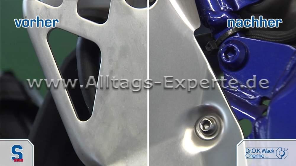 Hervorragend S100 Hochglanz Politur für Alu, Chrom und schwarze Motorteile RA22